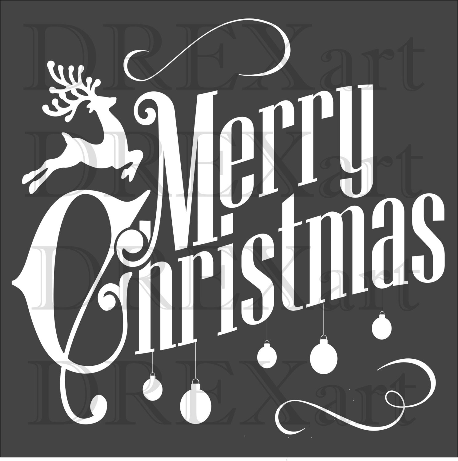 Crush image within merry christmas stencil free printable
