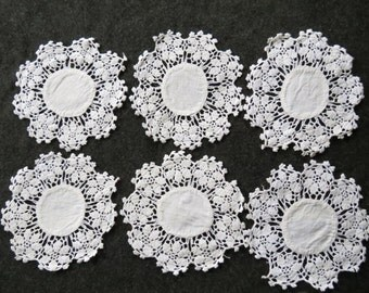 16 Vintage Hand Crochet Lace Doily Lot