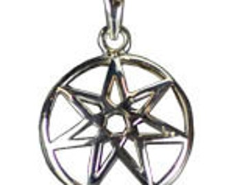 Seven Pointed Fairy Star Pendant, Jewelry Making, Sterling Silver, Metaphysical Crafts