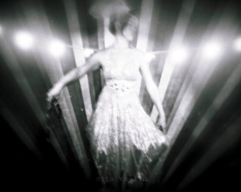 circus, night circus, lights, film, holga, burlesque, sheer dress, shiny 4x5, 8x10