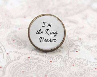 RING BEARER Lapel Pin, Tie Tack, Boutonniere Pin, I'm the Ring Bearer