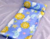 Doll Sleeping Bag- Blue with Sun and Moon