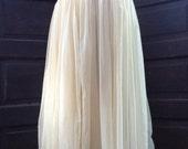 Sand/ beige sheer petticoat maxi slip underskirt