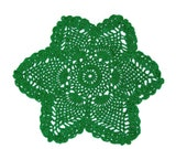 Green 6 Pointed Star Pineapple Doily