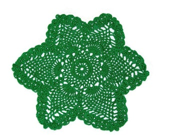 Star Pineapple Doily Green Star St. Patrick's Day  Lucky Star Home Decor