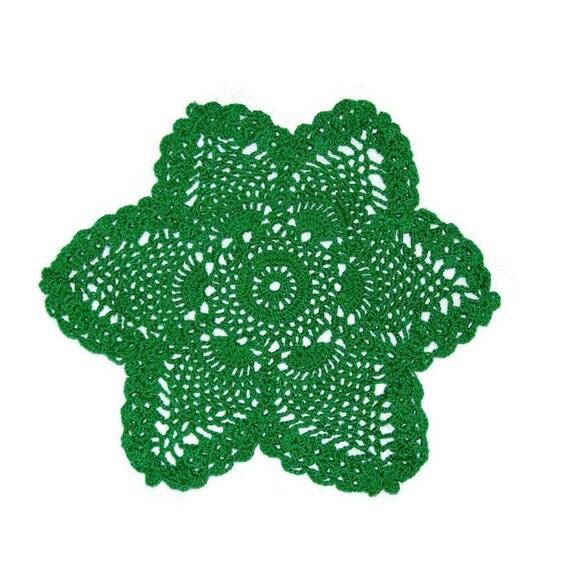Star Pineapple Doily Green Star