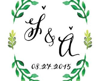Wedding Logo/Monogram / DIY Wedding / Personalized with your details