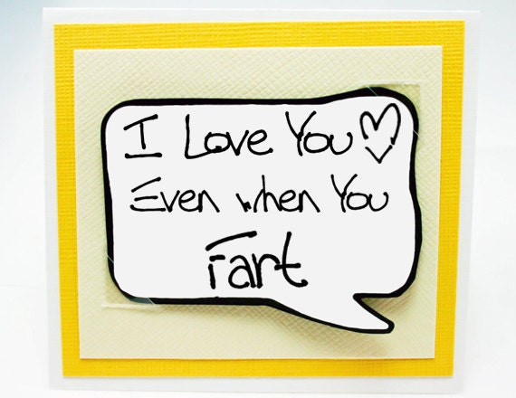 Funny Guy Card. Fart Card for Him. Valentine for Guys. Fun Cards for Men MN070