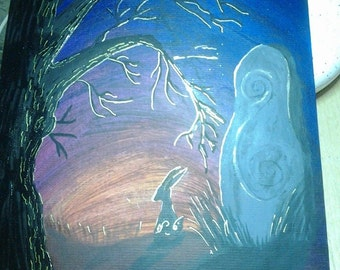 The Twilight Hour; Mixed Media Original Painting