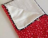 White Christmas Barking Dog Blanket or Cat BDBlanket