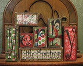 Christmas Decoration, Christmas Decor, Christmas Sign Word Blocks - Have Yourself A Merry, Little Christmas