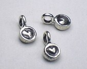 Tiny Heart Charms Karen Hill Tribe Fine Silver Thai Silver 3 pcs. HT-228