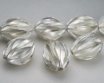 Karen Hill Tribe Focal Bead 14.5mm Fine Silver Bead HT-215