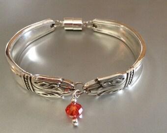Bracelet, FREE USA SHIPPING,  Women's Bracelet, Spoon Bracelet, Silver Bracelet, Silver Spoon Bracelet, Charm Bracelet, Jewelry