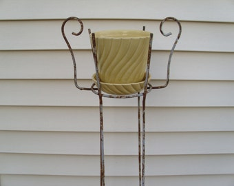 Vintage 1950's  Shabby Chic Plant Stand