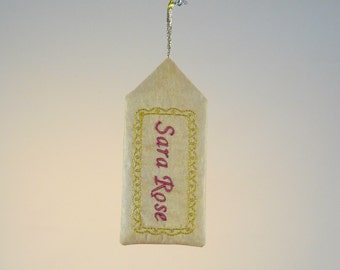 Custom Embroidered Tag for Gifts or Stockings
