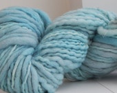 Hand spun hand dyed wool yarn color: Snow Queen
