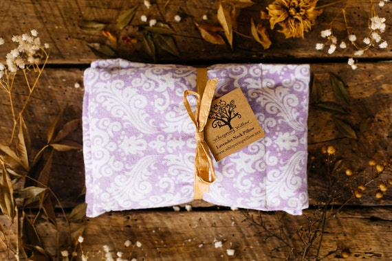 Organic Lavender And Flax Seed Neck Pillow By