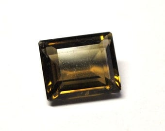 Faceted Smokey Quartz, Rectangle Table Cut - 12.2 x 10.3 x 6.1 mm - 6.3 ct - S1501-71