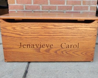 PERSONALIZED Engaved Toy Box-  Made of Oak or Maple- FREE SHIPPING