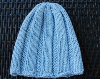 Powder Blue Hat – Superwash Merino Wool – Made in USA