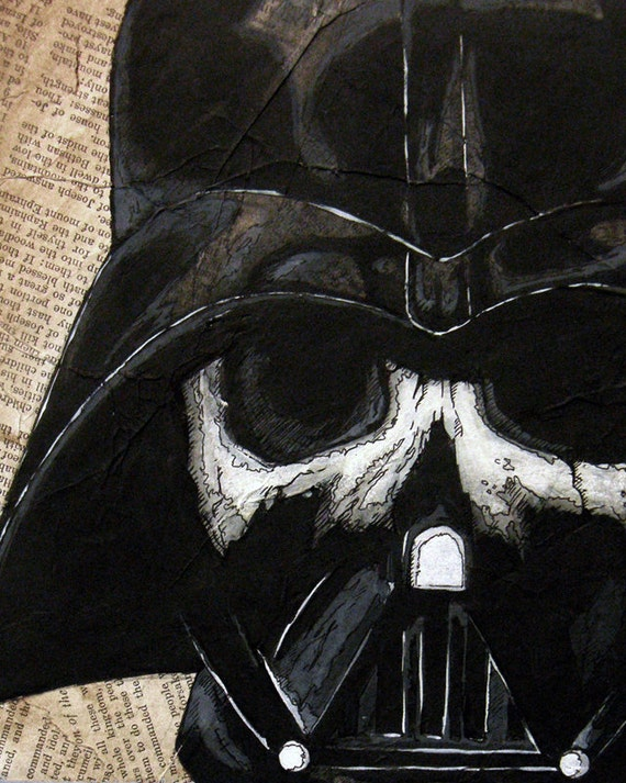 "Darth Vader Skull - 8""x10"" Art Print - ""You Don't Know The Power Of The Dark Side"" - Dead Star Wars"