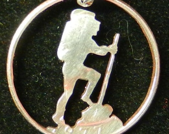 Hiker Hand Cut Coin Jewelry