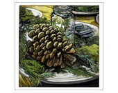 Pine Cone print of an original painting