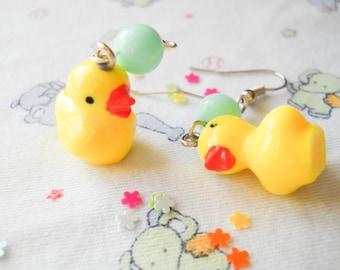 Kawaii Rubber Duck Earrings, Kawaii Earrings, Cute Earrings, Duck Earrings, Fun, Kawaii, Duckling, Teen/ Girls Gift Idea