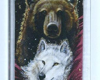 Bear Wolf Totem Pendant