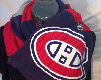 Montreal Canadians Recycled T Shirt Infinity Scarf