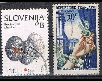 42  Postage Stamps - Design - Folk