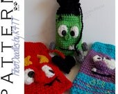 INSTANT DOWNLOAD : Halloween Silly Sacks  (3 pack) Crochet Patterns w/BONUS