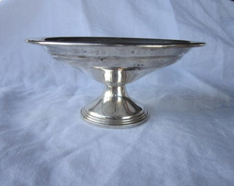 vintage sterling Reed & Barton candy dish, bon bon dish - weighted sterling, No. 534