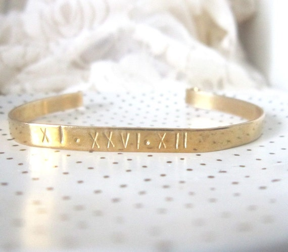 Personalized Brass Cuff Bracelet