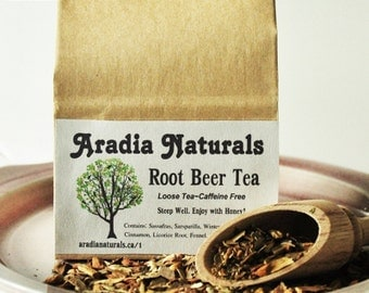 Root Beer Tea - Specialty Herbal Blend - Delicious Natural Ingredients - Artisan Teas by Aradia Naturals