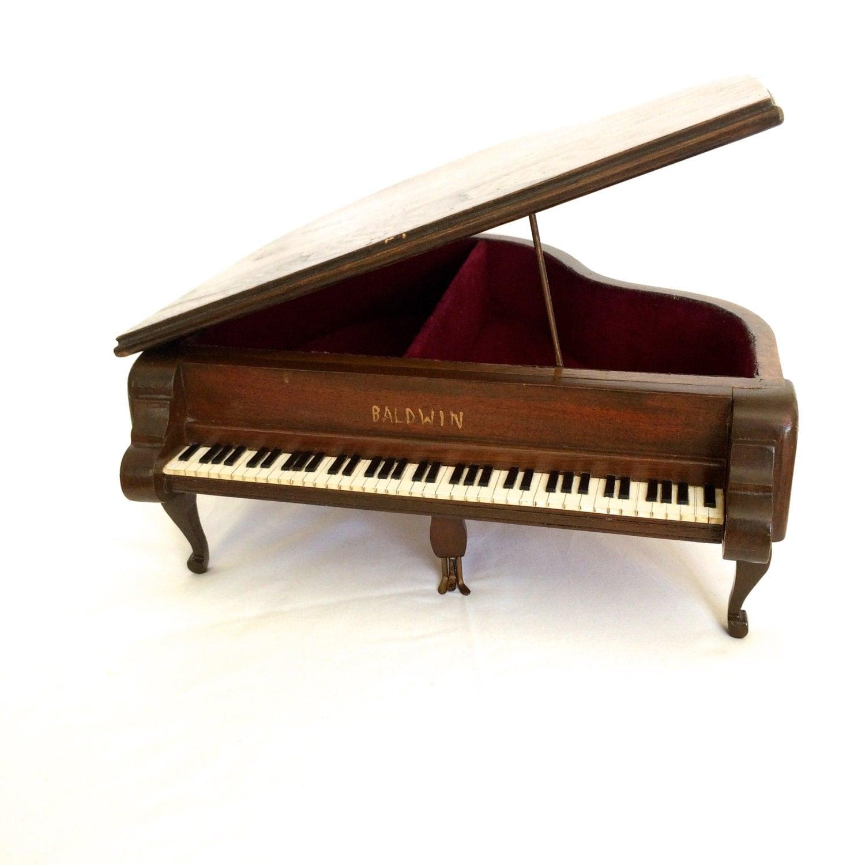 grand piano jewelry box wooden miniature baldwin piano trinket