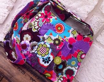 Fabric Messenger/Tote/Purse/Handbag/Crossbody Bag - The Chic Hipster