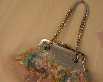 Fairie Blue Purse from my Innocent One Collection Art to Wear Accessories OOAK and Magical