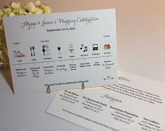 wedding ceremony agenda example. wedding day timelines and ...