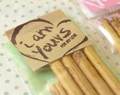 20 I am Yours Square Kraft Wrapping Stickers (1.8 x 3.5in)