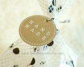 20 Stitch Handmade Circle Kraft Tags (2in)