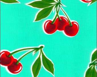Cherries Oil Cloth 1 Yard Oilcloth