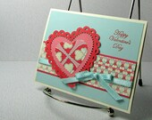 Valentine Card Handmade Happy Valentines Day Romantic Sweet Hearts Card