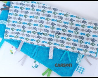 Items similar to outer space robot rocket minky dot for Space minky fabric