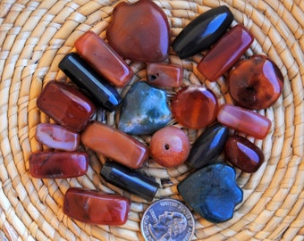 African Carnelian/Agate Assortment:
