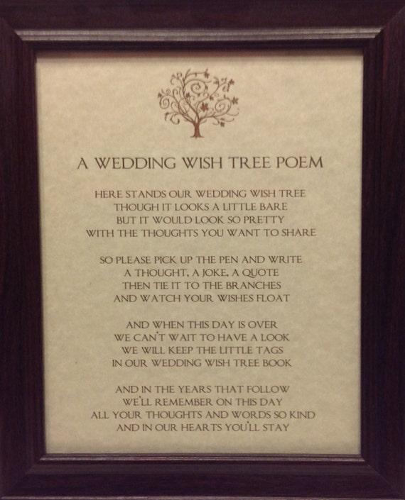 Items Similar To Wedding Wish Tree Sign Wishing Guest Book Instruction Poem