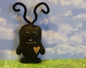 Monster plush toy cute black gift for kids