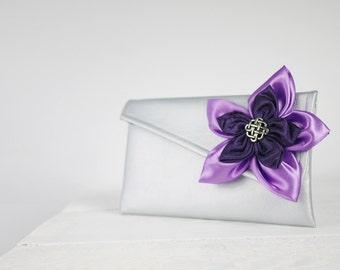 Purple wedding clutches, wedding accessories, purple bridesmaid clutch, purple wedding