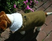Wool Army Blanket Sherpa Lined Small Dog Harness Jacket